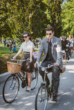 Toronto, Canada - September 20, 2014: Tweed Ride. Toronto, Canada - September 20, 2014: Unidentified participants of Tweed Ride Toronto in vintage style clothes royalty free stock photography