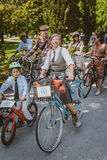 Toronto, Canada - September 20, 2014: Tweed Ride. Toronto, Canada - September 20, 2014: Unidentified participants of Tweed Ride Toronto in vintage style clothes royalty free stock images