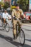 Toronto, Canada - September 20, 2014: Tweed Ride. Toronto, Canada - September 20, 2014: Unidentified participants of Tweed Ride Toronto in vintage style clothes stock image