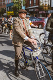 Toronto, Canada - September 20, 2014: Tweed Ride. Toronto, Canada - September 20, 2014: Unidentified participants of Tweed Ride Toronto in vintage style clothes stock images