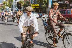 Toronto, Canada - September 20, 2014: Tweed Ride. Toronto, Canada - September 20, 2014: Unidentified participants of Tweed Ride Toronto in vintage style clothes royalty free stock image