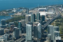 Toronto, Canada: Aerial View of the city downtown Stock Image