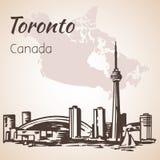 Toronto, Canada sityscape near the coastline. On white background Stock Images