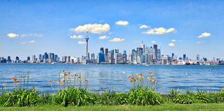 Toronto, Canada skyline over waterfront Stock Images