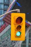 Toronto, Canada: Traffic Light sign in downtown district Royalty Free Stock Image