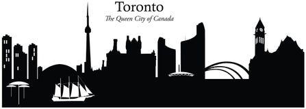 Toronto, Canada. Vector illustration of the skyline cityscape of Toronto, Canada Stock Photo