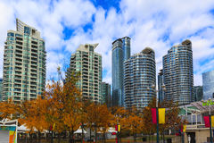 Toronto Canada. TORONTO, CANADA - 16-10-2015: A view of the elegant condominiums on the Lake Ontario in Toronto, Canada. Toronto`s population about 6 million stock photography
