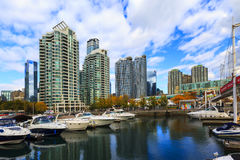 Toronto Canada. TORONTO, CANADA - 16-10-2015: A view of the elegant condominiums on the Lake Ontario in Toronto, Canada. Toronto`s population about 6 million stock image
