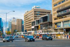 Toronto, Canada: Yonge Street and Sheppard Ave. intersection Royalty Free Stock Images