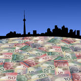 Toronto with Canadian dollars Stock Photo