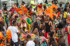 Toronto Caribbean Carnival 2015 G. Caribana, now known as The Scotiabank Toronto Caribbean Carnival, a celebration of Caribbean culture and traditions held Stock Photos