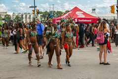 Toronto Caribbean Carnival 2015 M. Caribana, now known as The Scotiabank Toronto Caribbean Carnival, a celebration of Caribbean culture and traditions held Stock Photography