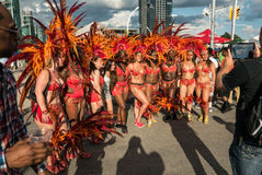 Toronto Caribbean Carnival 2015 T. Caribana, now known as The Scotiabank Toronto Caribbean Carnival, a celebration of Caribbean culture and traditions held Stock Photography