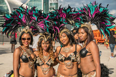 Toronto Caribbean Carnival 2015 V. Caribana, now known as The Scotiabank Toronto Caribbean Carnival, a celebration of Caribbean culture and traditions held Royalty Free Stock Images