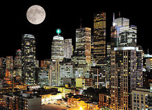 Toronto center. Night city view. Canada stock photos