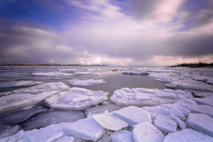 Toronto Cherry Beach under vinter Royaltyfri Bild