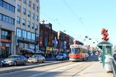 Toronto Chinatown e tram Immagini Stock Libere da Diritti