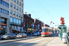 Toronto Chinatown and streetcar Royalty Free Stock Images