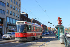 Toronto Chinatown and streetcar Stock Photos