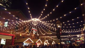 Toronto Christmas Market. At Distillery District stock image