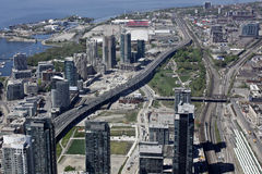 Toronto city. This picture was made from CN-Tower Stock Photography