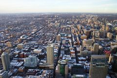 Toronto City from Above. View of Toronto City from Above Royalty Free Stock Photo