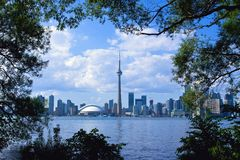 Toronto City with Frame Stock Images