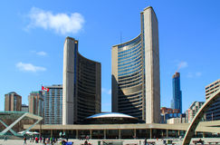 Toronto City Hall. TORONTO, CANADA - April 22 2014: The Toronto City Hall, or New City Hall, the municipal government of Toronto, Ontario, Canada, and one of the Royalty Free Stock Photography