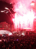 Toronto City Hall Fireworks Royalty Free Stock Photo