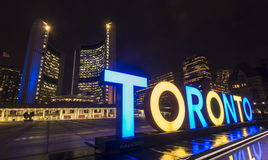 Toronto City hall. At Nathan Phillips squares Royalty Free Stock Photo