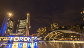 Toronto City hall. At Nathan Phillips squares Stock Images