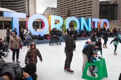 Toronto City Hall or New City Hall. Skating rink Canada Stock Photography