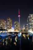 Toronto city harbor and cn tower canada stock photography
