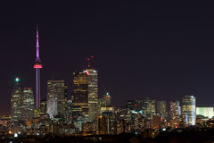 Toronto city lights. Toronto night scene from east Stock Photography