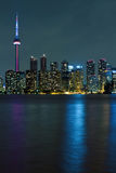 Toronto city at night Royalty Free Stock Images