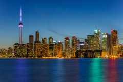 Toronto city at night Royalty Free Stock Image
