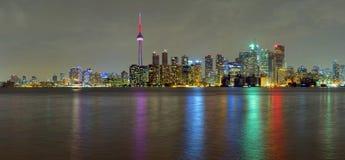 Toronto city at night royalty free stock photo