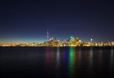 Toronto city panorama at night  Canada Royalty Free Stock Photos