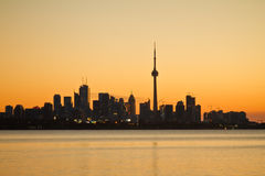 Toronto City Silhouette Royalty Free Stock Image