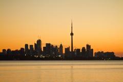 Toronto City Silhouette Royalty Free Stock Image