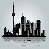 Toronto city silhouette. Stock Photos