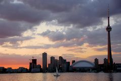 Toronto city skyline Stock Photos