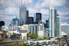 Toronto city skyline stock photography