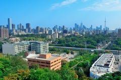 Toronto city skyline royalty free stock photos