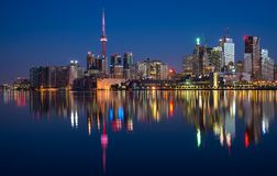 Toronto City Skyline Reflection Royalty Free Stock Photos