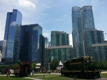 Toronto city. Skyscrapers city center in Toronto, Canada stock photo