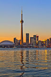Toronto city view. Toronto city sunset view from center island stock images