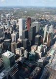 Toronto cityscape. Panorama of downtown high rise buildings in Toronto, Ontario, Canada Stock Photos