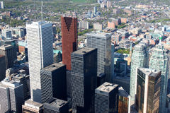 Toronto cityscape. Panorama of downtown high rise buildingsand skyscrapers in Toronto, Ontario, Canada Stock Photography