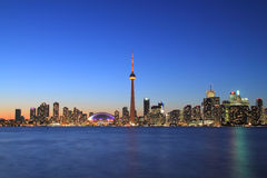 Toronto Cityscape from Central Island Royalty Free Stock Images
